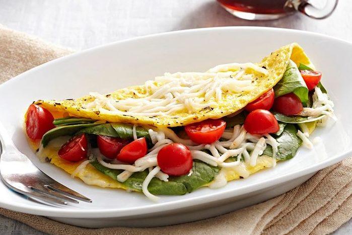 Fit śniadanie 1 - Omlet ze szpinakiem