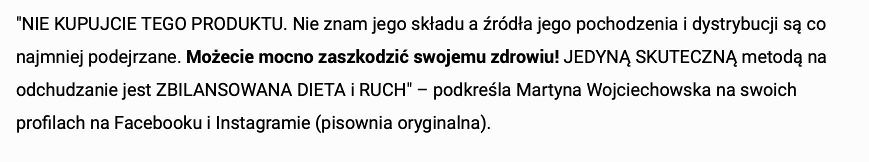 Choco Lite - Wypowiedź Martyny Wojciechowskiej