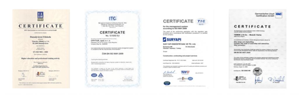 fałszywe certyfikaty