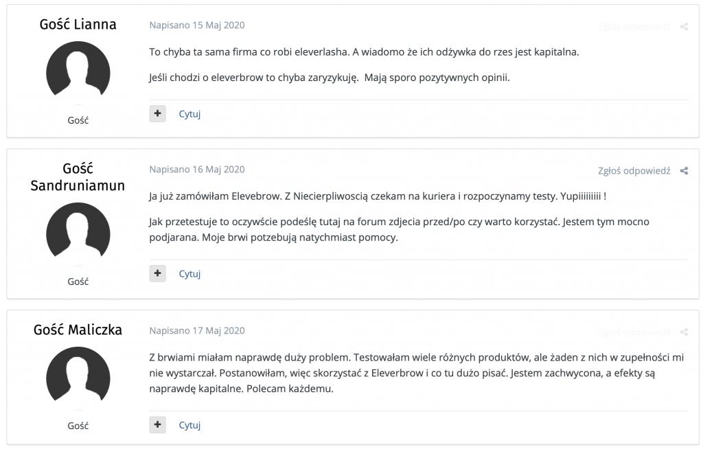 eleverbrow opinie z forum