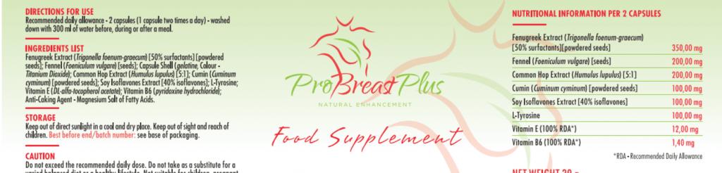 sklad tabletek ProBreast Plus