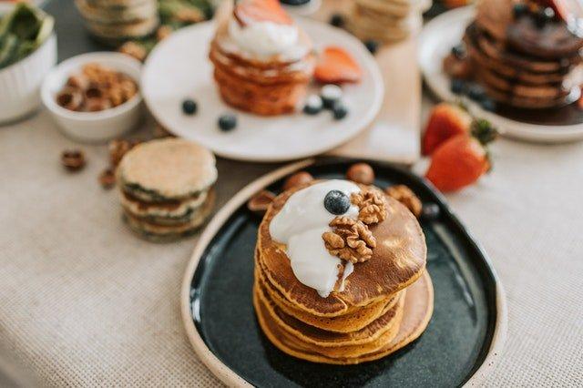 keto pancakes na sniadanie